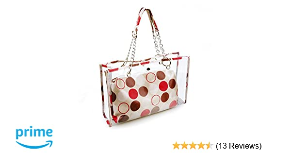 eb64df576915 Amazon.com   Gama Clear Tote Bag for Women - 3 in 1 Clear Purse and Handbags  Waterproof Beach PVC Plastic Purse Clear Stadium Bag with Interior Pocket -  for ...