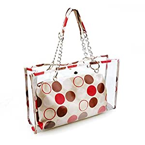3b5a303c28bf Amazon.com   Gama Clear Tote Bag for Women - 3 in 1 Clear Purse and ...