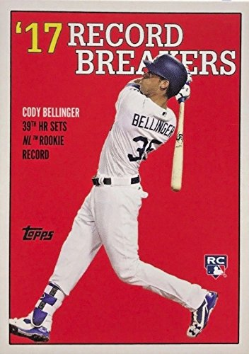 (2017 Topps TBT Throwback Thursday - 1987 Design Record Breakers - Cody Bellinger Los Angeles Dodgers Baseball Rookie Card RC #129)
