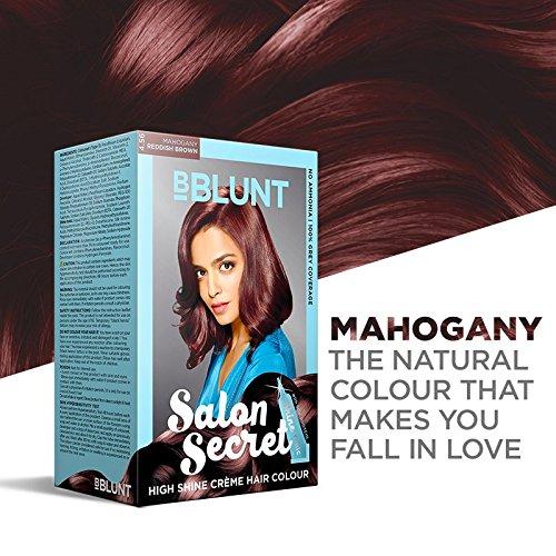BBLUNT Salon Secret High Shine Creme Hair Colour Mahogany Reddish Brown 4.56