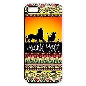 diy case Hakuna Matata on Sunset Lion King Pattern Plastic Hard Case for iPhone 6 4.7