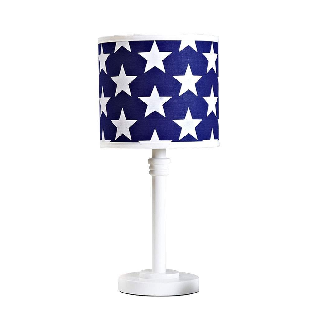 Children's Table Lamp Bedroom Creative Bedside Lamp Interior Decoration Led Lamp Star Solid Wood Boy Room Lamp