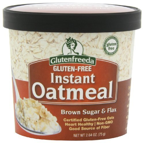 Glutenfreeda's Instant Oatmeal Cups, Brown Sugar and Flax, 2.64 Ounce (Pack of 12) by Glutenfreeda's