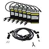 AIMS Power 250 Watt Micro Grid Tie Invertesr with Trunk Cables, 6 Pack Easy Installation