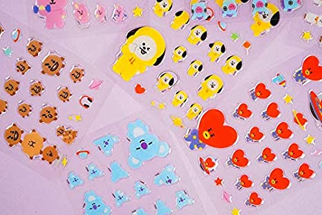 3.Mang BTS Photocard Included BTS Official Merchandise Jelly Sticker Second Edition