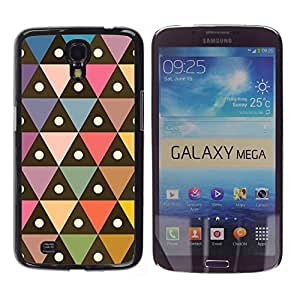 TopCaseStore / la caja del caucho duro de la cubierta de protección de la piel - Polygon Pattern Pastel Colors - Samsung Galaxy Mega 6.3 I9200 SGH-i527