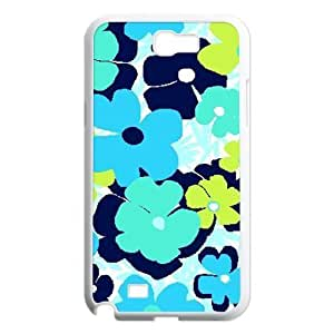 Blue Flowers Customized Cover Case for Samsung Galaxy Note 2 N7100,custom phone case ygtg611982