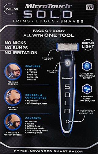 Micro Touch SOLO Rechargeable Shaver, Trimmer and Edger by Micro Touch (Image #1)