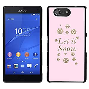 [Neutron-Star] Snap-on Series Teléfono Carcasa Funda Case Caso para Sony Xperia Z4v / Sony Xperia Z4 / E6508 [Let It Snow Snowflake Pink Winter X-Mas]