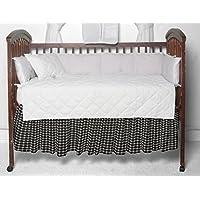 Patch Magic Black and White Checks Fabric Dust Ruffle Crib