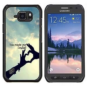 EJOOY---Cubierta de la caja de protección para la piel dura ** Samsung Galaxy S6Active Active G890A ** --Usted me termina la cita del amor Perfección Hecho