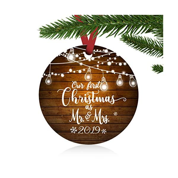 ZUNON-First-Christmas-Ornaments-2019-Our-First-Christmas-as-Mr-Mrs-Couple-Married-Wedding-Decoration-3-Ornament