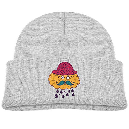 Kids Knitted Beanies Hat Clouds Grandfather Winter Hat Knitted Skull Cap for Boys Girls Gray ()