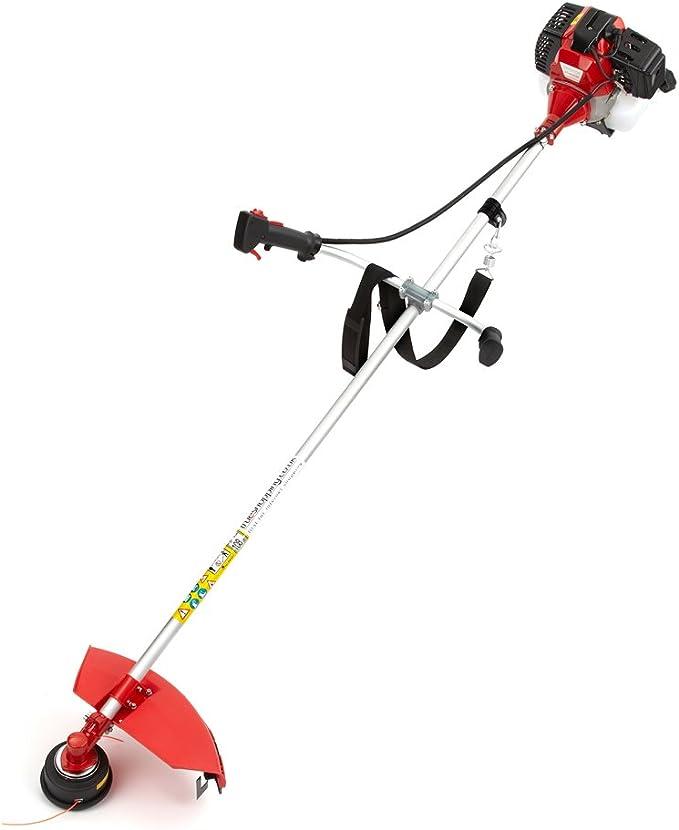 Trueshopping Podadora Desbrozadora Modelo de 2 Tiempos a Gasolina 49cc 1,65 KW / 2,2HP: Amazon.es: Hogar