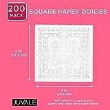 Juvale Square Paper Doilies