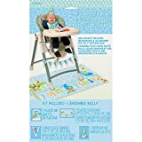Blue Safari First Birthday High Chair Decorating Kit, 4pc