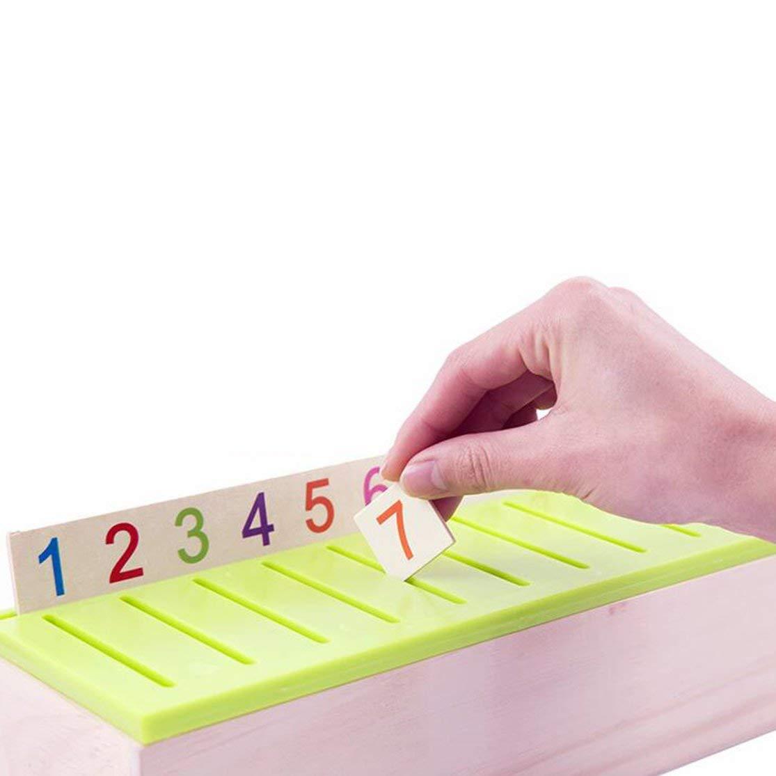 LouiseEvel215 Scatola di classificazione delle conoscenze Montessori Giocattoli di Legno per Bambini Giocattolo educativo di apprendimento precoce Scatole di categoria di Corrispondenza