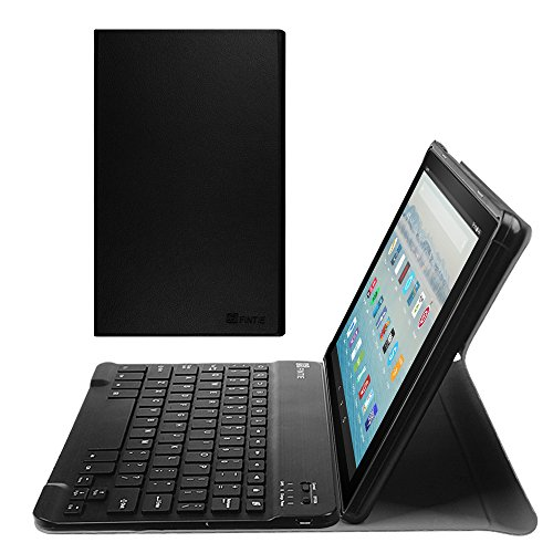 Fintie Keyboard Case for All-New Fire HD 10 (7th Generation, 2017 Release), Slim Lightweight Stand Cover with Detachable Wireless Bluetooth Keyboard for Amazon Fire HD 10.1 Tablet, Black