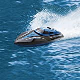 remote control boats for lakes - TOYEN GordVE Remote Control Boat for Lakes, Pools and Outdoor Adventure 4CH High Speed Electric RC Boat-Blue