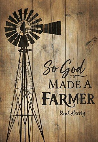 P. GRAHAM DUNN So God Made a Farmer 4.5 x 6.5 Inch Pine Wood Mini Tabletop Sign