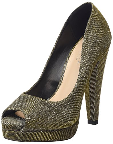 Mujer Kitty Bronze Gold Carvela Tacones qRxwnpHUCB