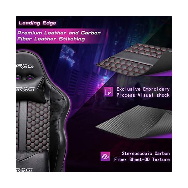 Kirogi Chaise Gaming, Chaise de Bureau Gaming Ergonomique avec Support Lombaire, 160kg Chaise Gamer de Jeu PC inclinable…