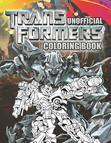Transformers Coloring Book  Awesome Coloring Book For Kids Ages 4 12