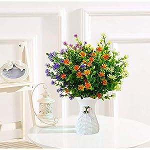 LUCKY SNAIL Artificial Flowers, Fake Outdoor UV Resistant Boxwood Shrubs Plants, Lifelike Plastic Flowers for Indoor Outdoors Home Office Garden Wedding Sidewalk Trim Decor,5 Pcs(Mixture) 2