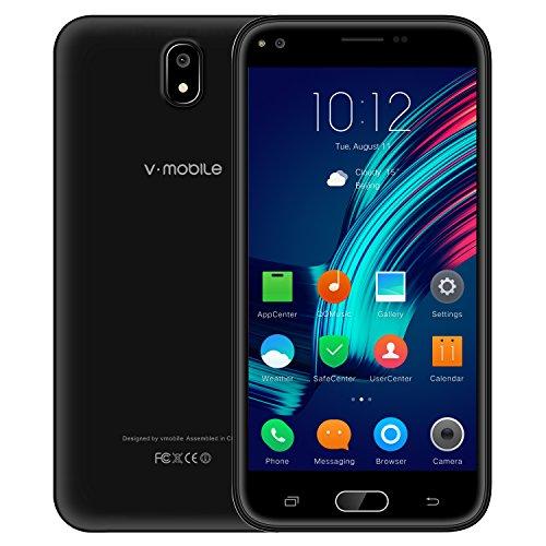 Unlocked Smartphones 5.5 inch HD Display Android 7.0 8GB ROM Unlocked Phones Dual Sim 5MP Camera 2800mAh Battery Compatible AT&T v mobile J5-N (Black)