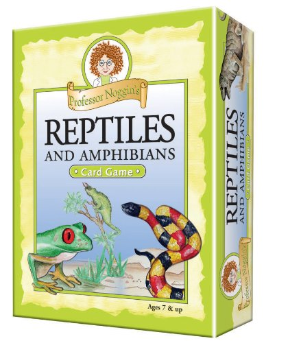 Professor Noggin's Reptiles and Amphibians - A Educational Trivia Based Card Game For - Playing Cards Reptile