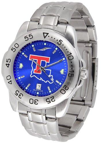 Louisiana Bulldogs Tech Watch Sport (Louisiana Tech Bulldogs Sport Steel AnoChrome Men's Watch)