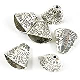 310 pcs Antique Silver Plated Jewelry Charms Findings Craft Making Vintage Beading I5KC4M Tassel Head Leather Cord End Cap