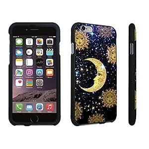 DuroCase ? Apple iPhone 6 - 4.7 inch Hard Case Black - (Moon Stars Sun)