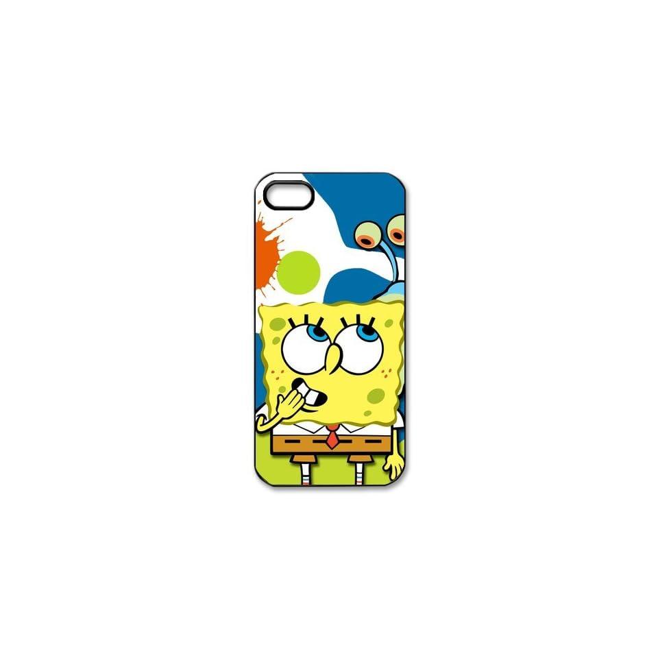 Classic Cartoon SpongeBob Squarepants iPhone 5 5s Case Cover Cell Phones & Accessories