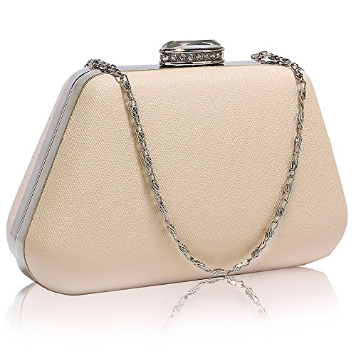 New Design With Handbag Bag Ladies Case Chain Womens Evening Clutch design Box 1 Designer Different Nude Hard xAR67wzq7