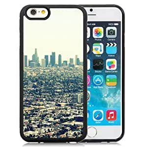 Fashionable Custom Designed iPhone 6 4.7 Inch TPU Phone Case With Los Angeles City View_Black Phone Case