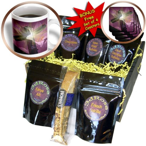 Christian Cross and Lily Coffee Gift Basket