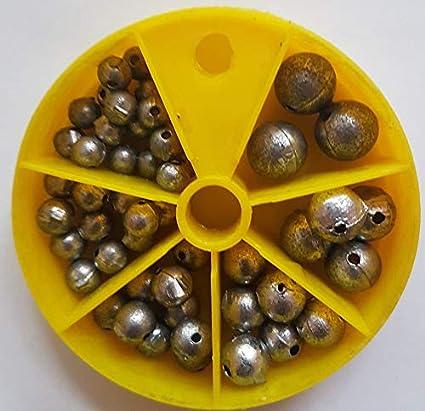 STMK - Surtido de Plomo Perforado, 6 Unidades Tamaños: 1 – 7 Gramos en Total 120 Gramos.