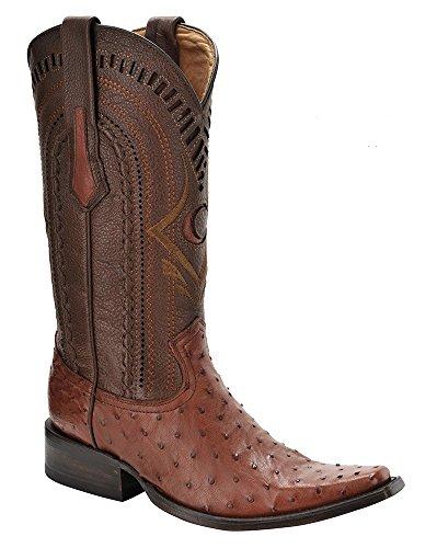 Cuadra Full Quill Ostrich Western Boots 1B41A1 (10 D(M 0US, Almond)