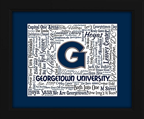 Georgetown University 16x20 Art Piece - Beautifully matted and framed behind - Georgetown Glasses