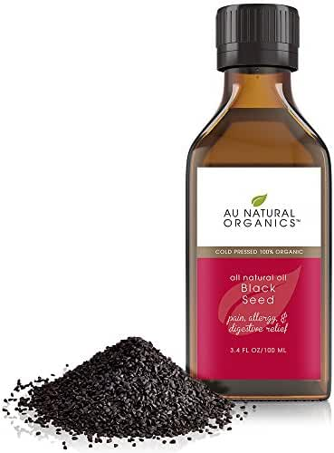 Au Natural Organics Black Seed Oil 3.4 Oz | 100 Ml