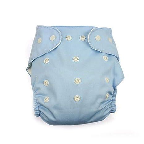 Uzinb Reutilizable Lavable Ajustable Un tamaño Bolsillo del bebé Pañales de Tela del pañal