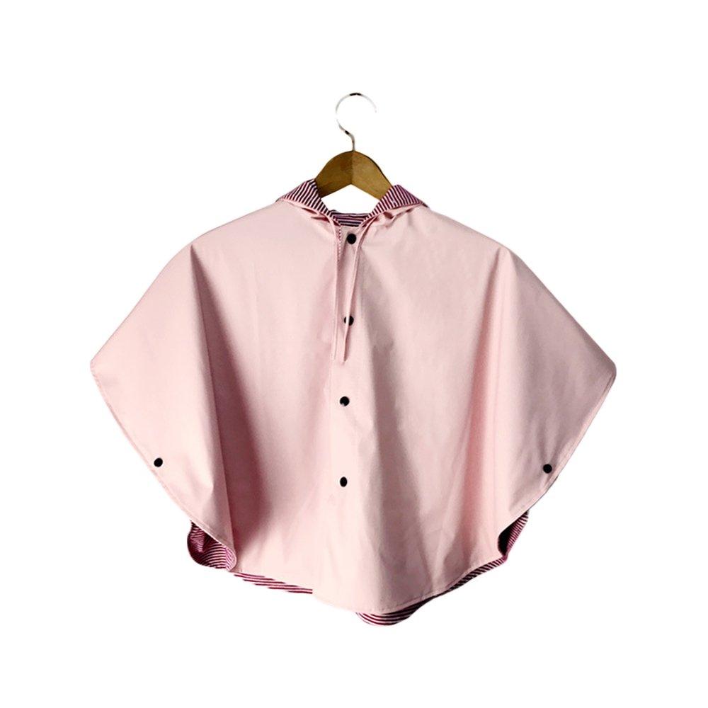 Veste de pluie pour enfants L'imperméable de Poncho de filles d'enfants peut être porté des deux côtés du vent et de la pluie épaississant la hommeteau rose d'imperméable pour les filles garçons