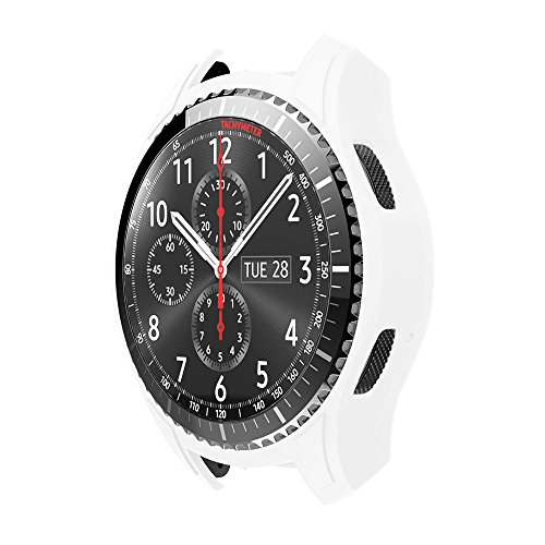 Case for Gear S3 Frontier SM-R760, Silicone Shock-Proof and Shatter-Resistant Protective Band Cover Case for Samsung Gear S3 Frontier SM-R760 Smart Watch (White)