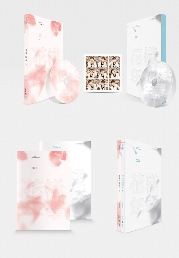 BTS 3rd Album [ In The Mood For Love ] PT.1 Pink ver. CD, Photobook and Photocard BANGTAN by Seoul Media