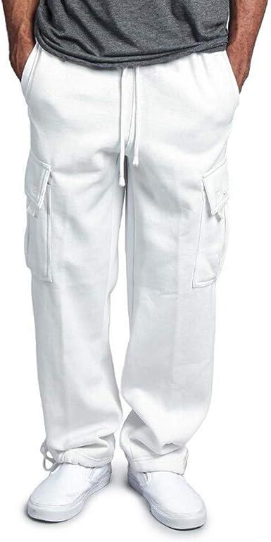 Pantalones de otoño e Invierno para Hombre Moda Recto ...