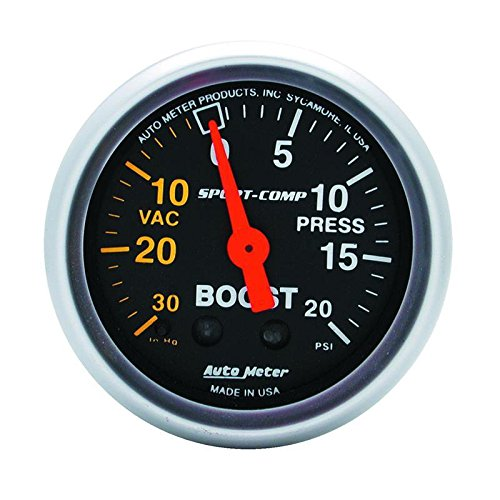 Autometer 3301 2'' BOOST-VAC, 30 IN. HG/ 20 PSI, MECH, SPORT-COMP by Auto Meter