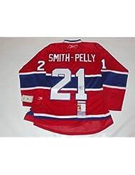 Autographed Devante Smith-Pelly Jersey - Reebok Premier #21 Coa - JSA Certified - Autographed NHL Jerseys