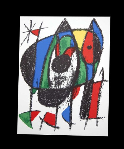 Joan Miro (1893-1983) Lithograph Limited Edition | Original Color Lithograph | From the presses of Adrien Maeght, Paris on May 15, 1975 | Catalogue Reference: C198, M1041 | ART183;docs8482;
