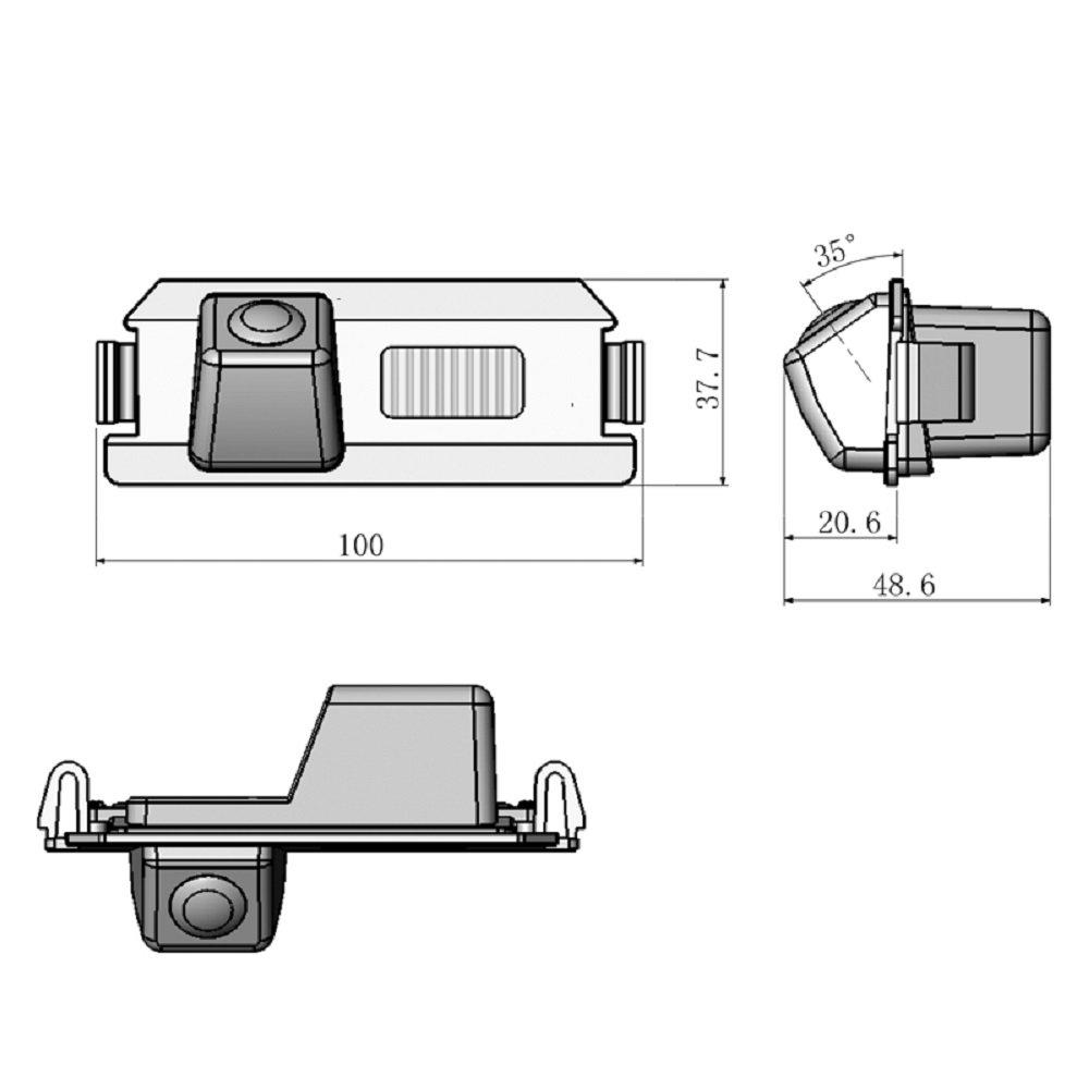 Verna Waterproof Rear-View License Plate Car Rear Backup Parking Camera for Hyundai I30 Rohens Solaris Genesis Coupe Solaris Hatchback KIA Soul Backup Camera for Car